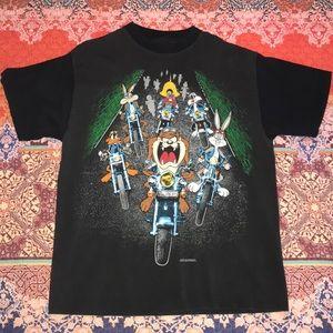 Vintage 1993 Looney Tunes Biker Tee 🏍🔥